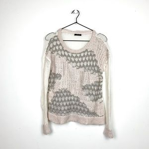 DKNY JEANS Sheer Sweater